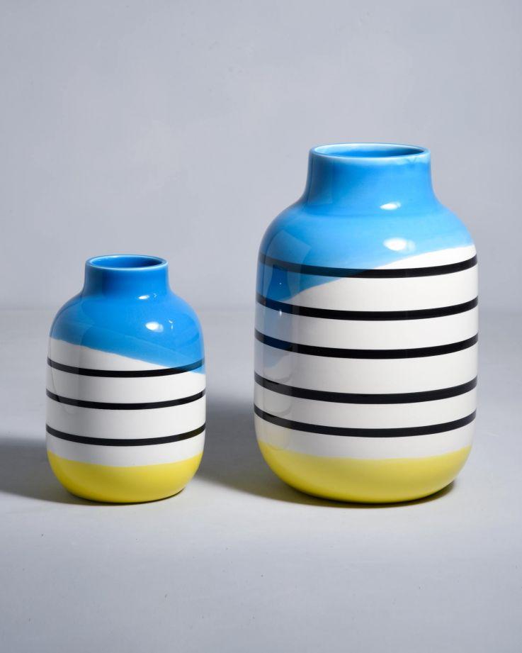 Nuno M schwarz weiß gestreift mit blau 2