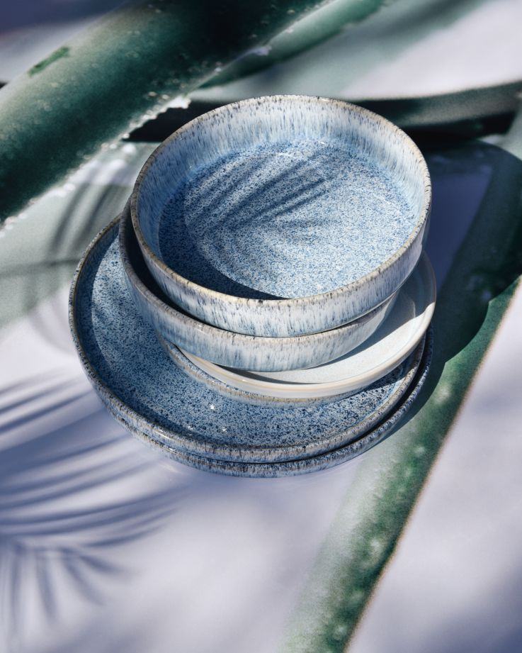 Cordoama Pastateller blau gesprenkelt 3