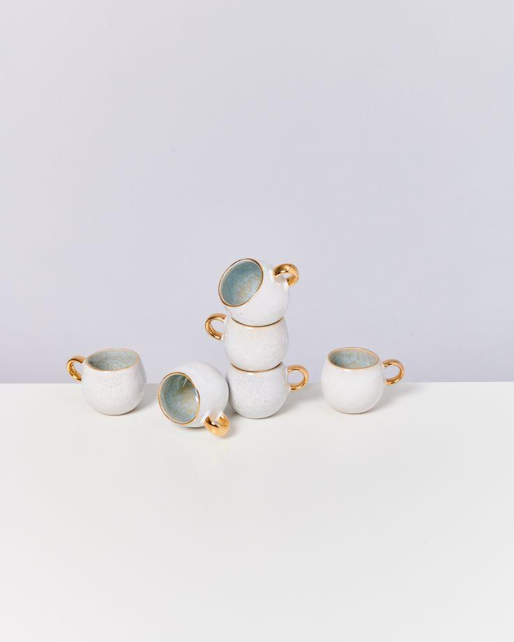 Areia Espressotasse azur mit Gold 3