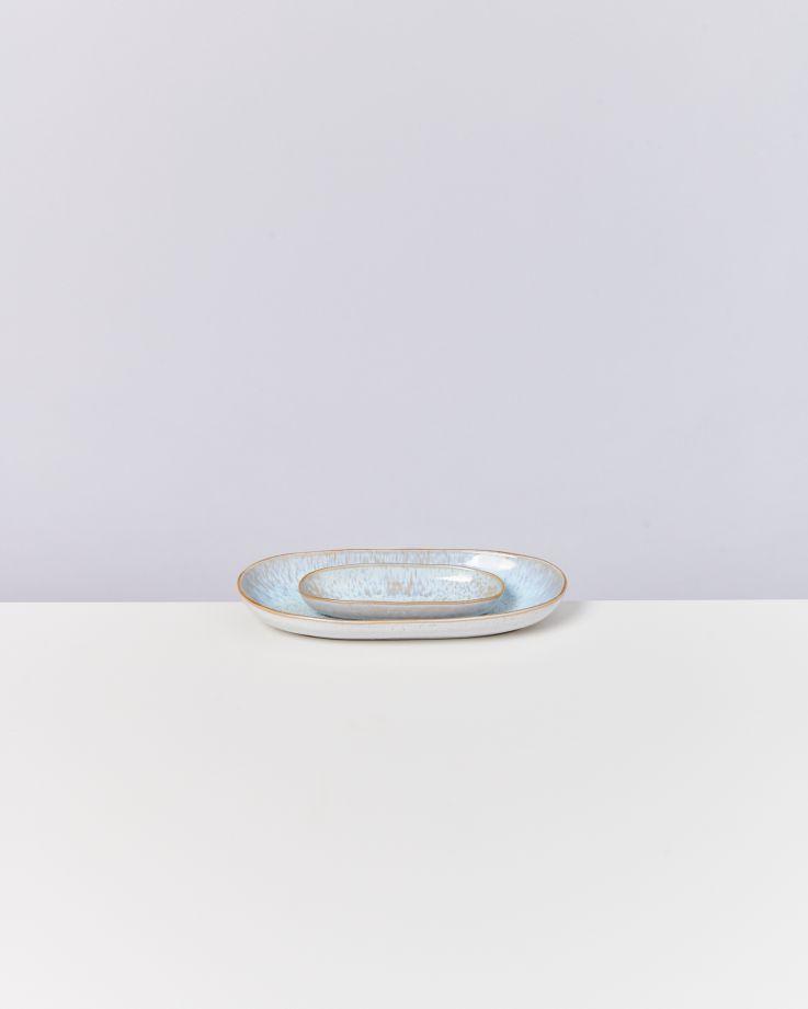 Areia Servierplatte M mit Goldrand azur 3