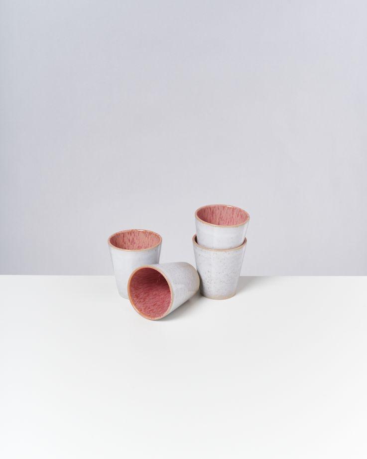 Areia 4er Set Becher groß pink 3
