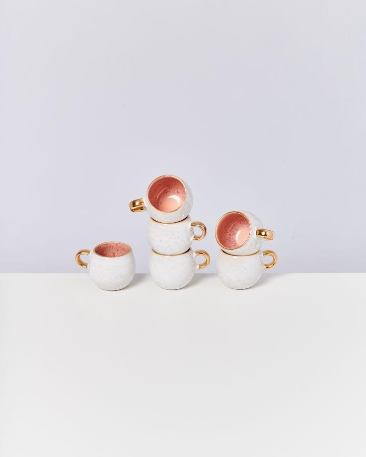 Areia Espressotasse pink mit Gold 3