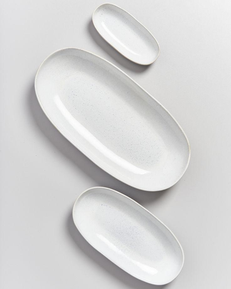 Areia Servierplatte S weiß 3