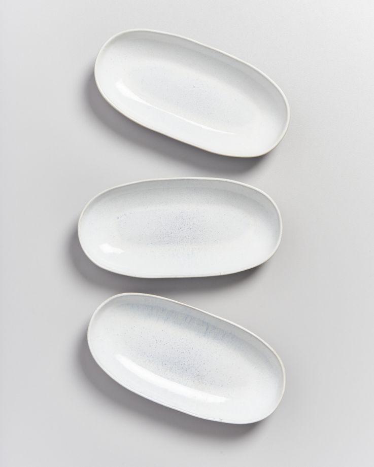 Areia Servierplatte M weiß 3
