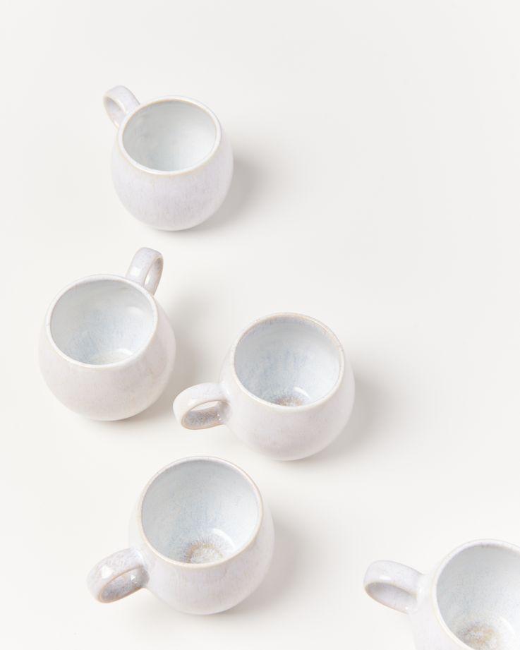 Areia 6er Set Tasse groß weiß 3