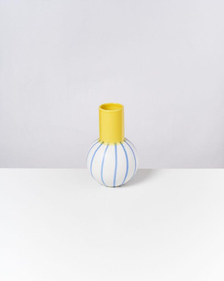 Bola M gelb blau gestreift 3
