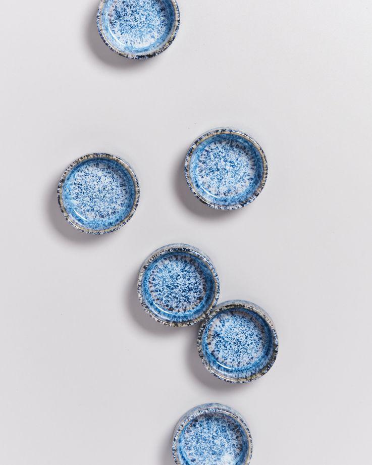 Cordoama Saucenschälchen blau gesprenkelt 3