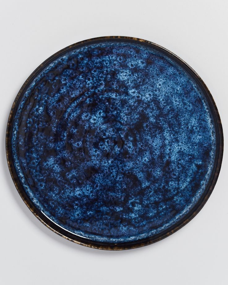 Cordoama Teller groß dunkelblau 3