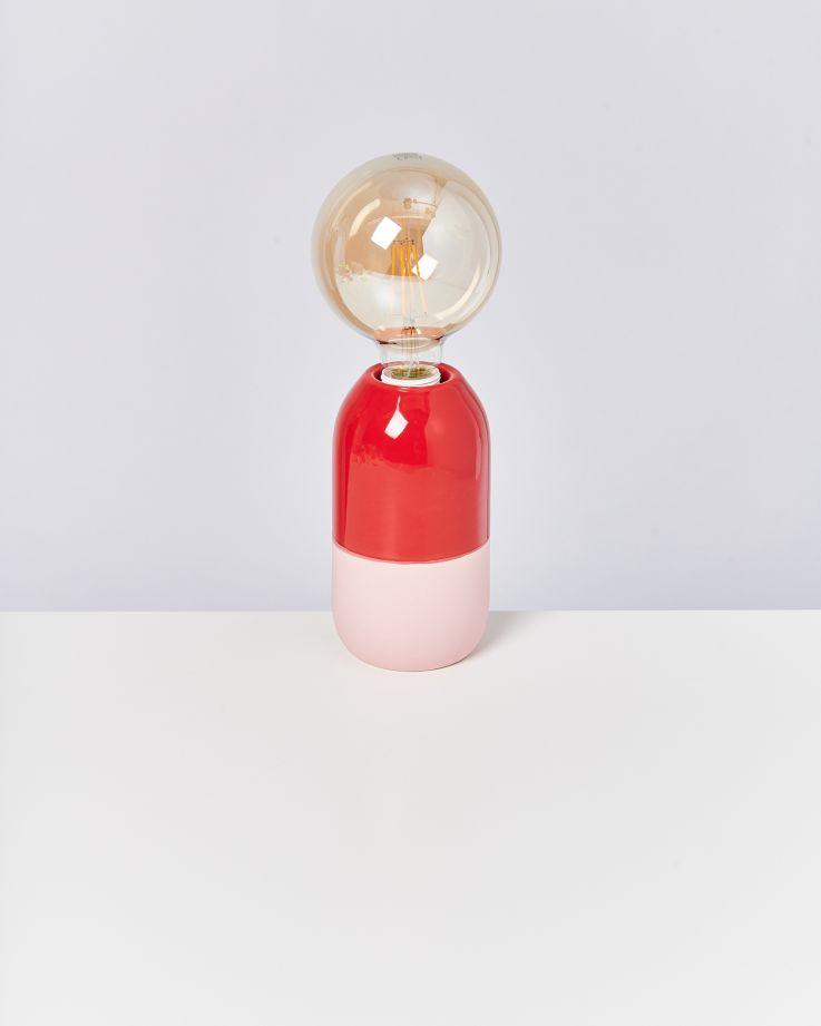 Farol Lampe rot rosa 3