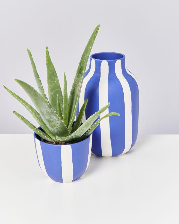 Flores Planter blue striped 3