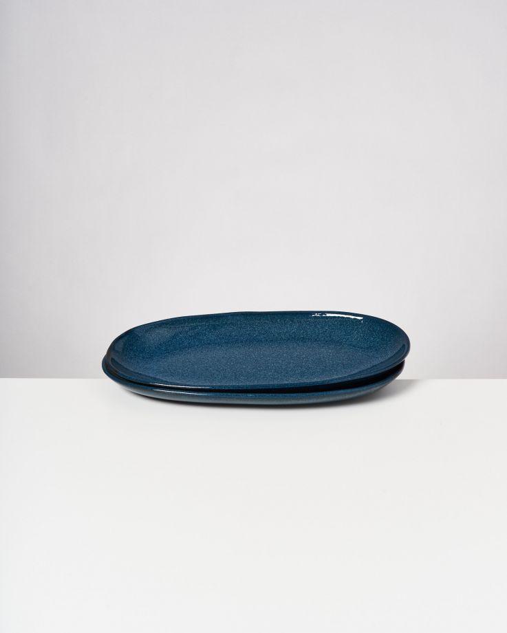 Melides Servierplatte L navygreen 3