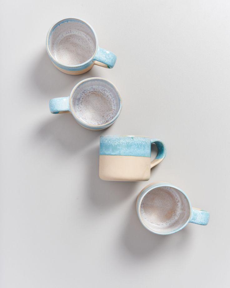 Nódoa 4er Set Tasse Blue dipped 3