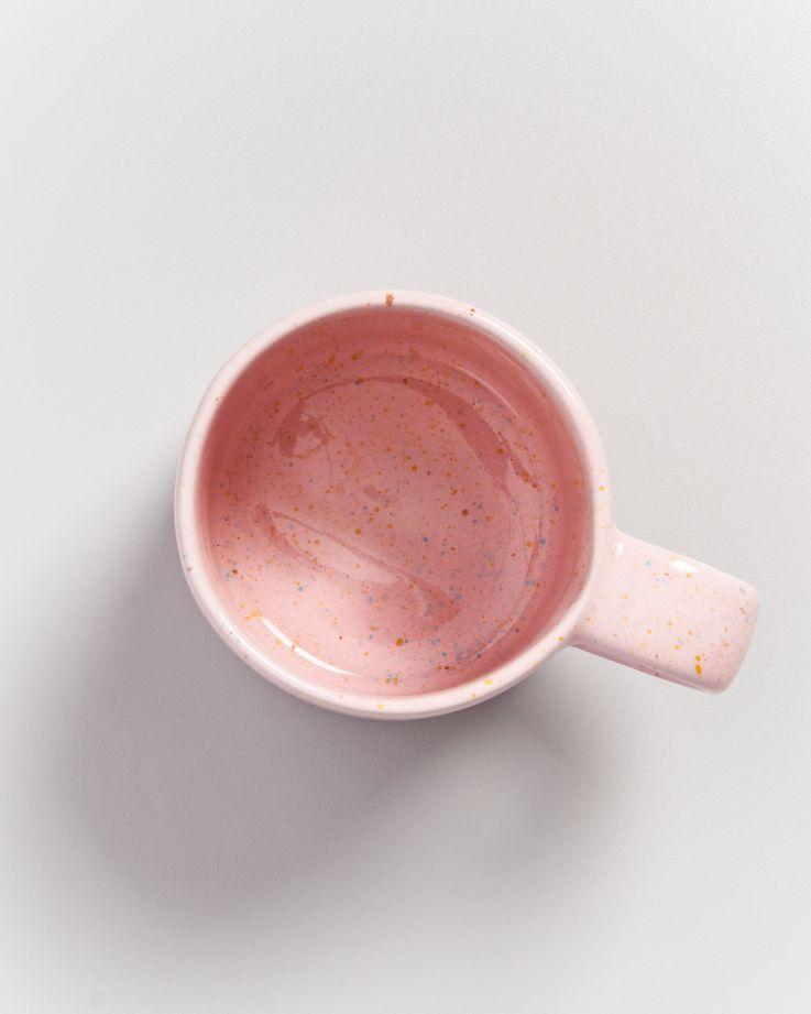 Nódoa Tasse rosa gesprenkelt 3