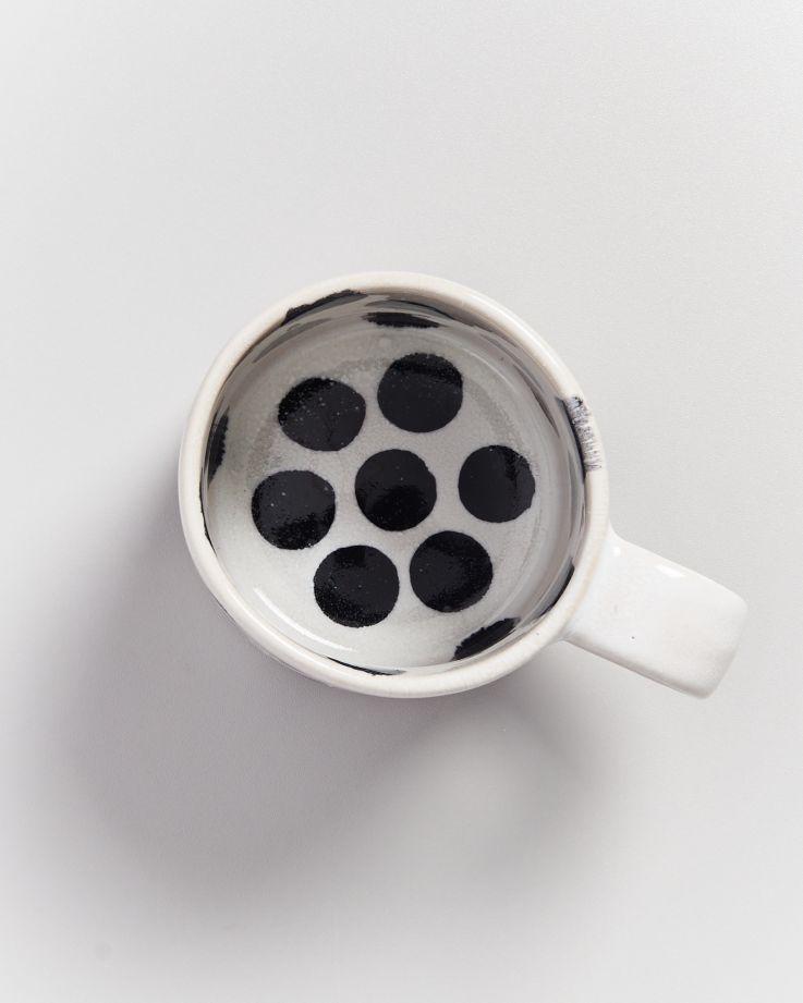 Nódoa 4er Set Tasse schwarze Punkte 3