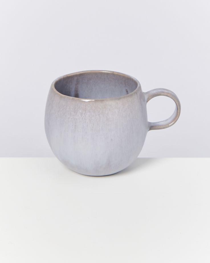 Porto 4er Set Tasse groß grau 3
