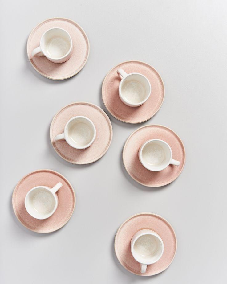 Zavial rose - Set of 6 Espressomugs with Saucer 3