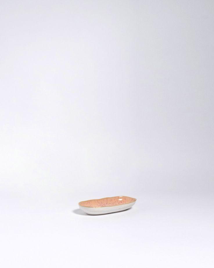Areia Servierplatte S mit Goldrand pink 3