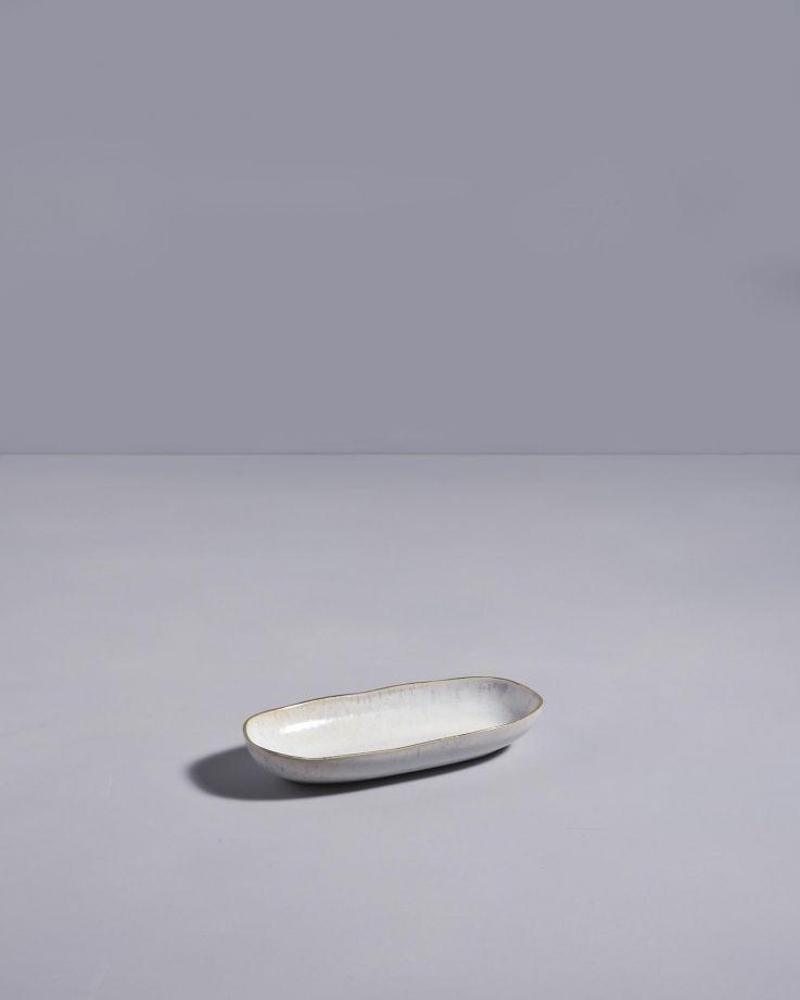 Areia Servierplatte S mit Goldrand weiss 3