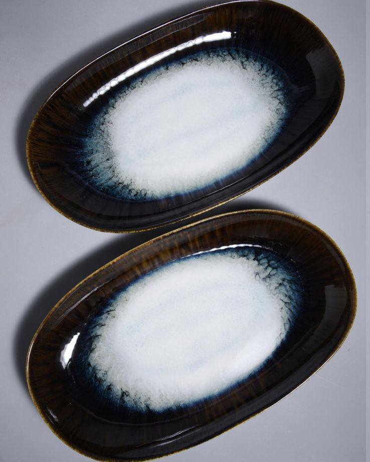 Alachofra Servierplatte L schwarz 3