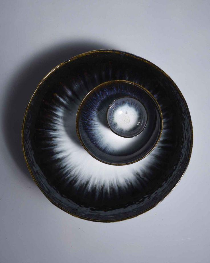 Alachofra Servierschale tief schwarz 3