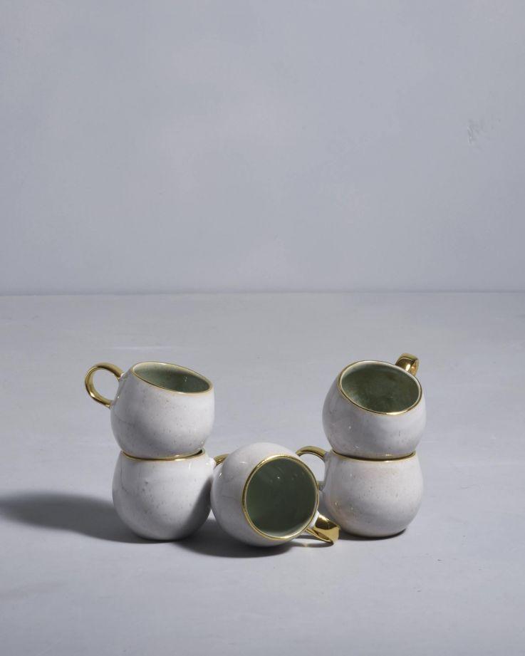 Areia Espressotasse mint mit Gold 3