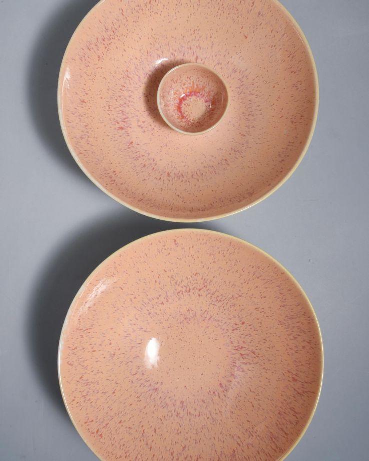 Areia Servierschale klein flach pink 3