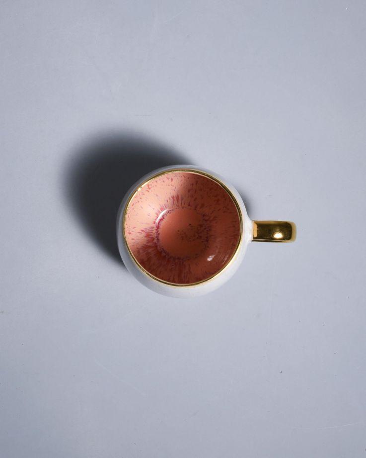 Areia Tasse groß pink mit Gold 3