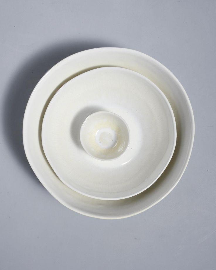 Tróia Servierschale weiß 3