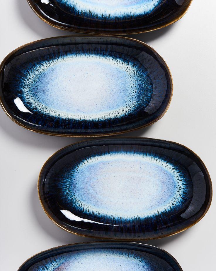 Alcachofra Servierplatte L schwarz 4