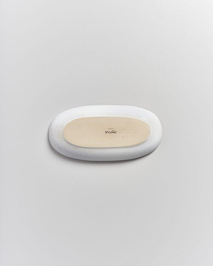 Areia Servierplatte M mit Goldrand weiß 4
