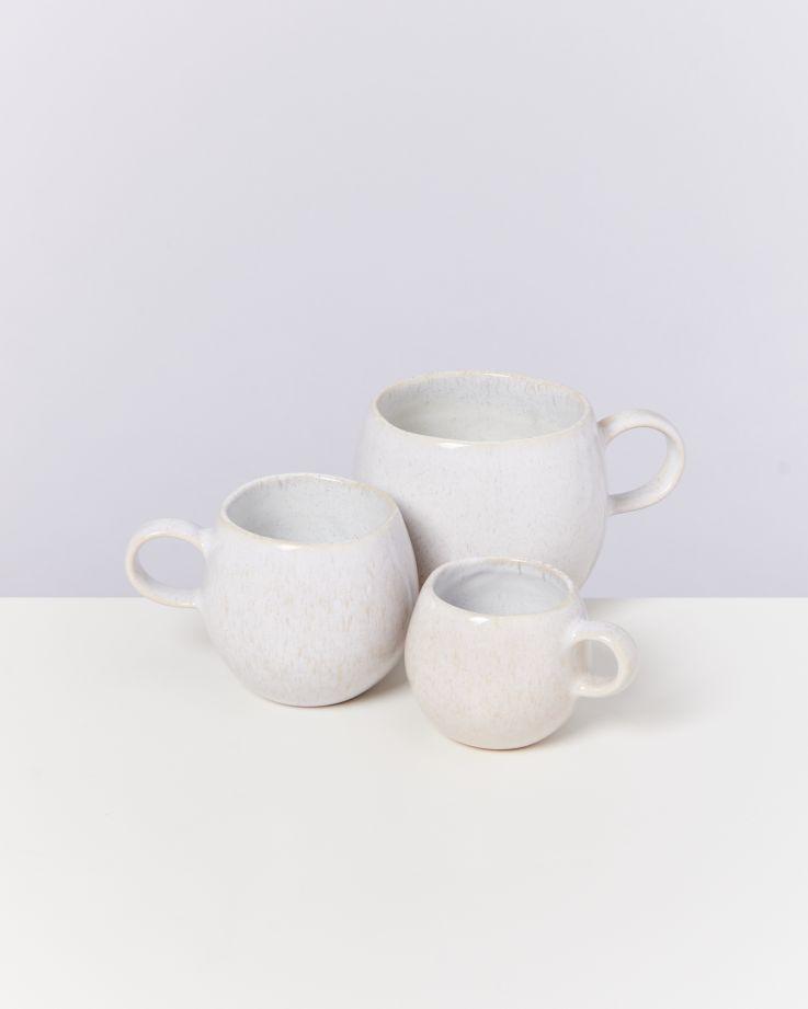 Areia 4er Set Tasse groß weiß 4