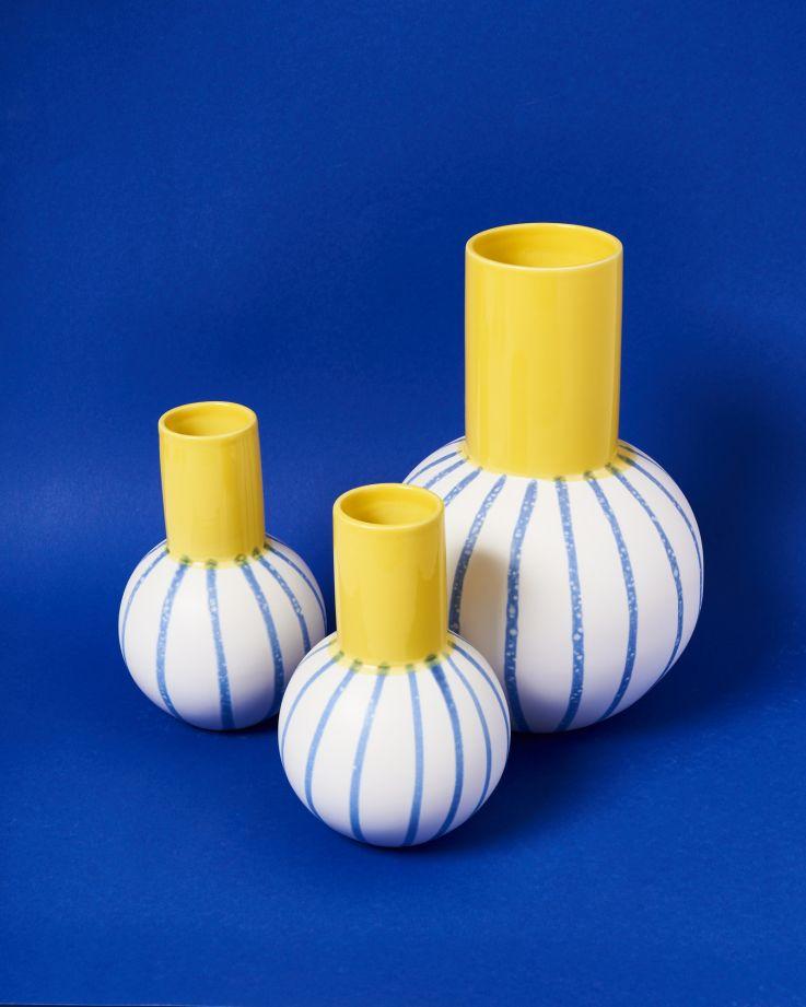 Bola M gelb blau gestreift 4