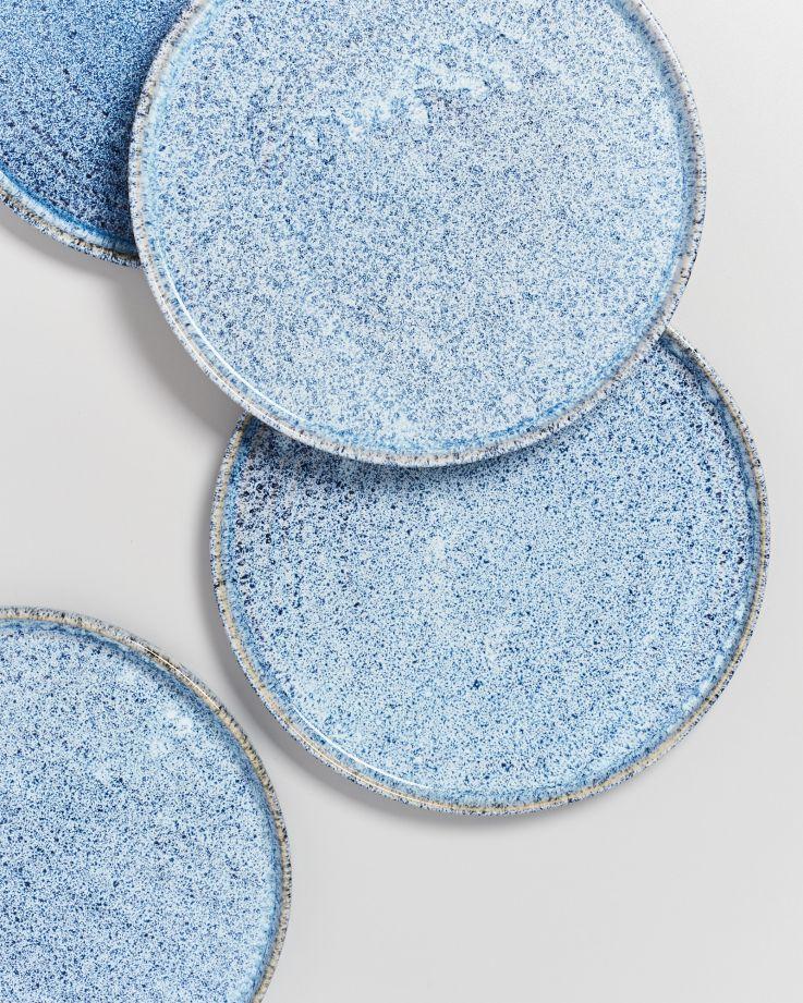Cordoama Teller groß blau gesprenkelt 4