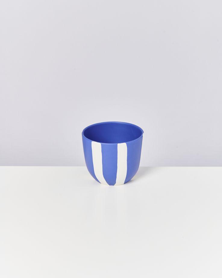 Flores Planter blue striped 4