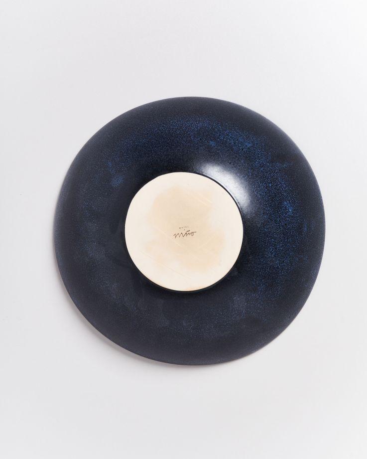 Turmalina Servierschale groß flach schwarz 4