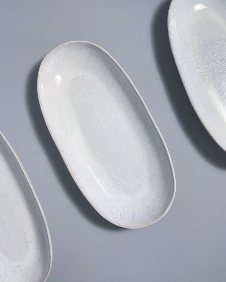 Areia Servierplatte L weiß 4