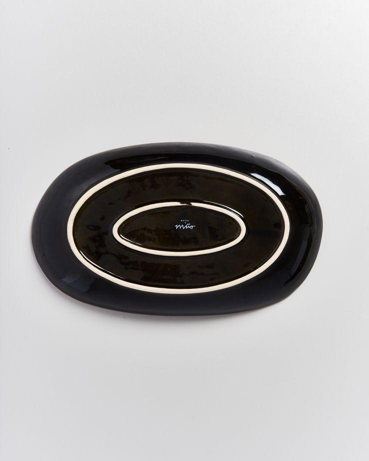 Alcachofra Servierplatte L schwarz 5
