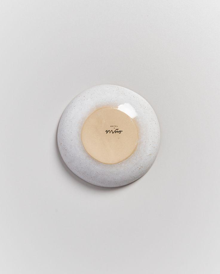 AREIA - Mini plate white mint gold rim 5