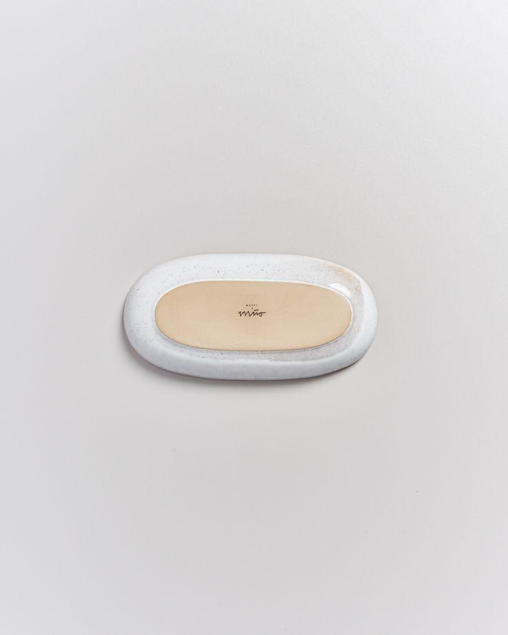 Areia Servierplatte M mit Goldrand pink 5
