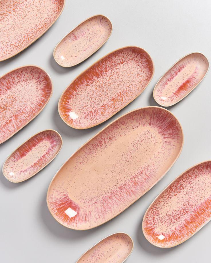 Areia Servierplatte L pink 5