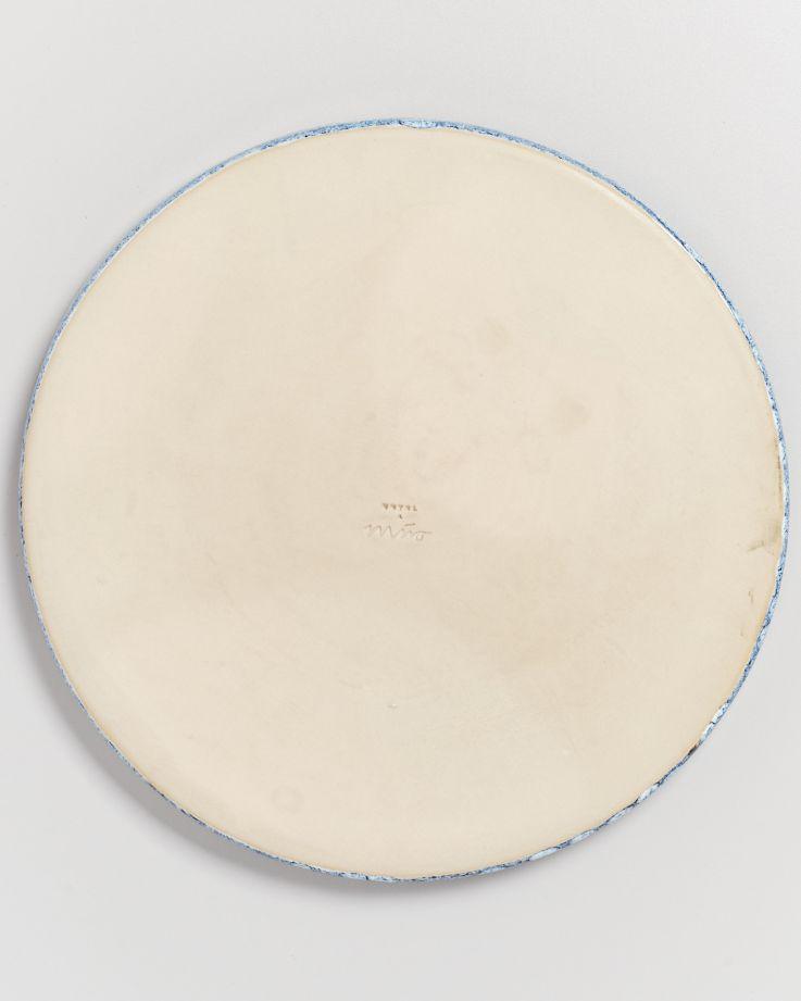 Cordoama Teller groß blau gesprenkelt 5