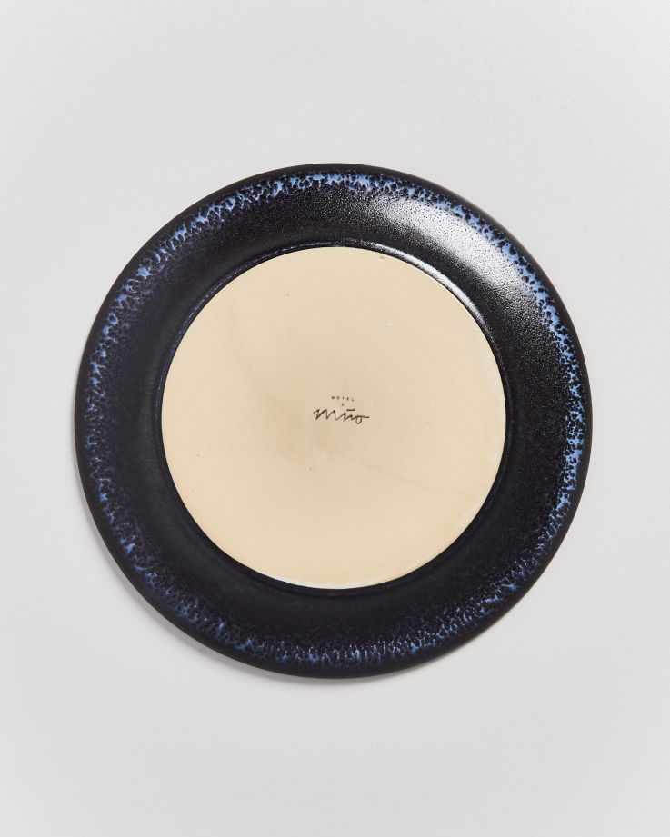 TURMALINA - Plate small black 5