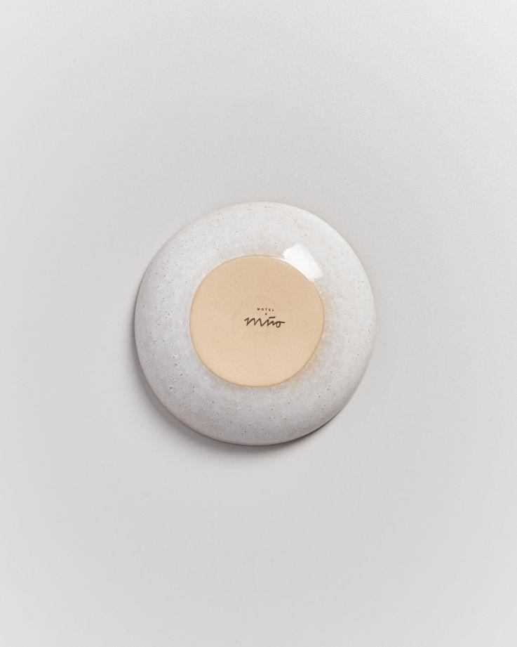 Areia Miniteller tief mit Goldrand azur 6